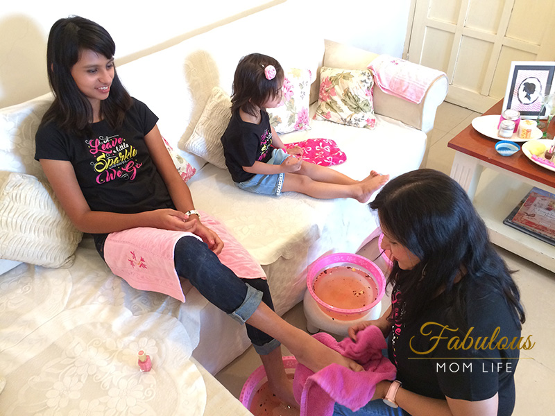 Mother's Day Spa Party - Pedicures by Mamma
