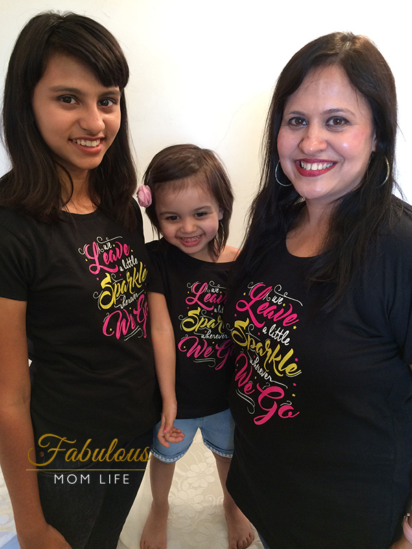 Matching Mom and Daughters Tees from BonOrganik