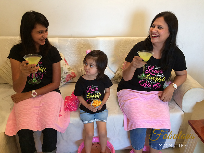 At Home Spa Party with Daughters - BonOrganik Matching Mom and Daughters Tees