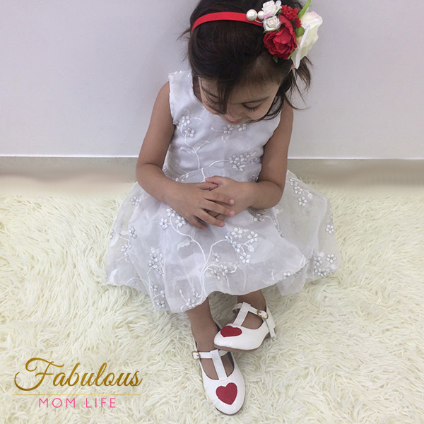dchica white red heart t-strap toddler bellies