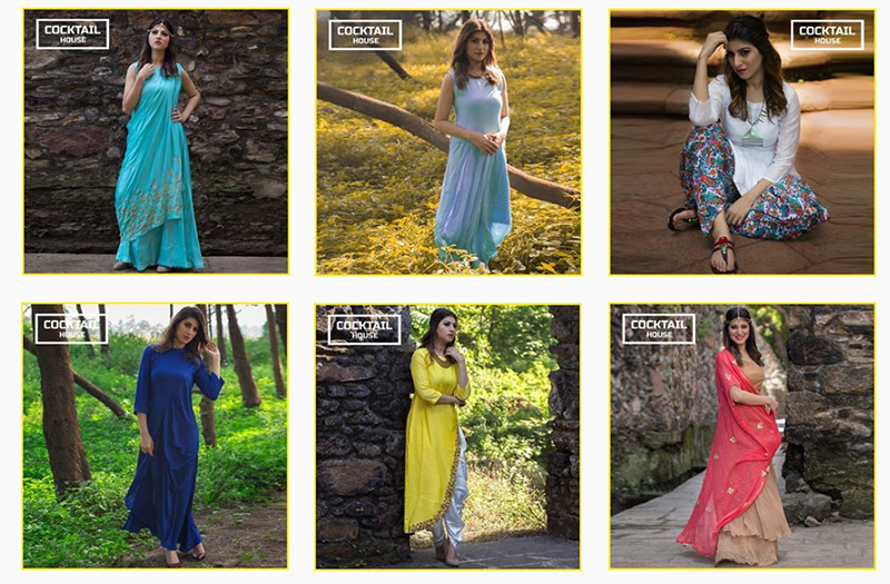 cocktail house fusion indian dresses gowns