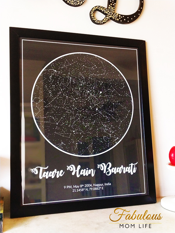 custom night sky star map by modern map art