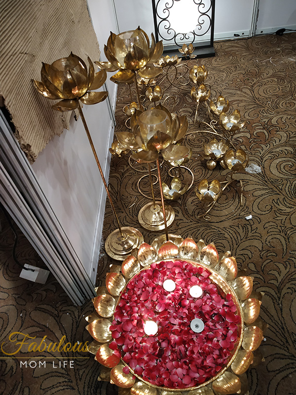 Lotus Brass Floor Lamps - Indian Decor