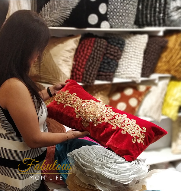 Sequined cushions from Akarshan, Delhi