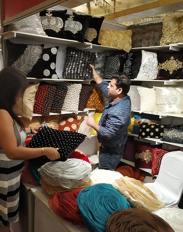 Velvet, Studded  Cushions from Akarshan, Delhi