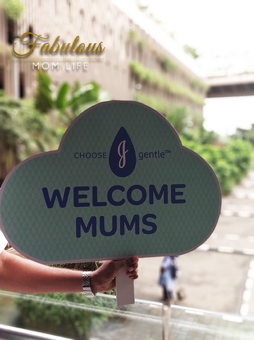 new johnsons baby launch india airport welcome-placard