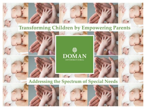 Doman Method - Parent Training Program for Cerebral Palsy, Autism, and other Special Needs