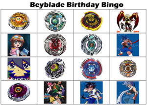 Beyblade Bingo Cards / Tickets