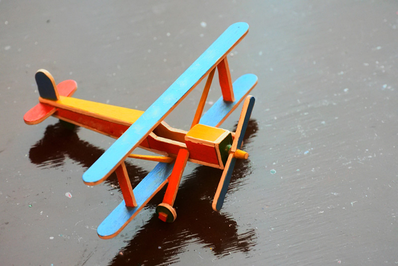 Aeroplanes from Popsicle Sticks - Kids Craft Idea