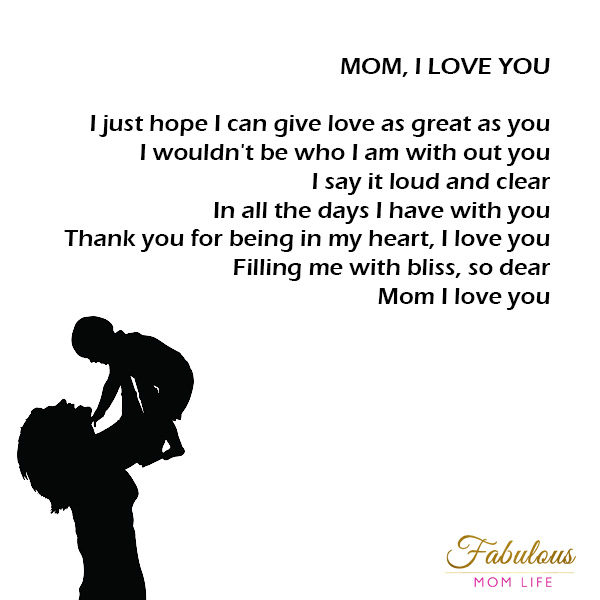 Mother's Day Poems - Fabulous Mom Life