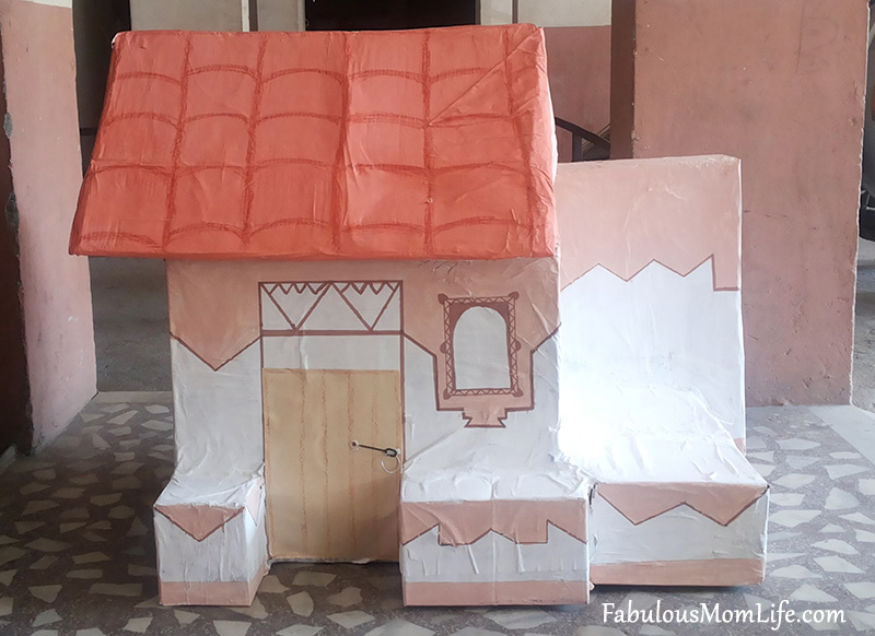 How To Make A House Model With Cardboard Boxes For School Projects