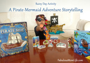Rainy Day Activity - A Pirate-Mermaid Adventure Storytelling with #colgatemagicalstories