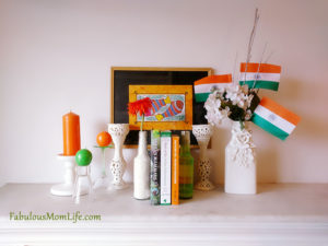 Indian Tricolor Mantel Decoration for 15th August
