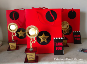 Movie Awards Night/Red Carpet Party Favors