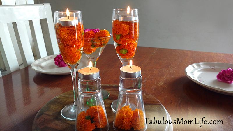 Diwali Decor Dinner Table Centerpiece Fabulous Mom Life