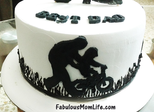 40th Birthday Silhouette Cake For Dad