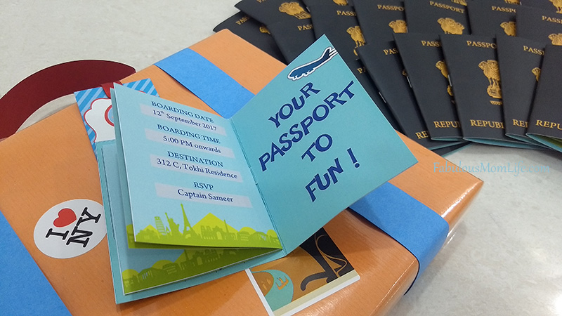 Passport Invitations For Around The World Birthday Party