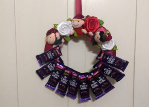 Dairy Milk Wreath