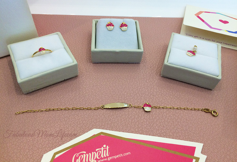 cupcake design 18k jewelry set