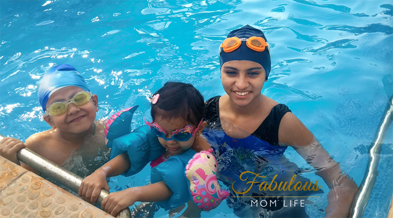Fabulous Mom Life - Kids in the Swimming Pool - Summer Vacations