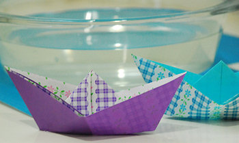 Easy, DIY Paper Sail Boats