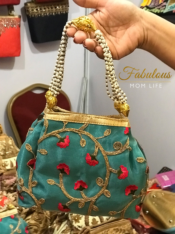 Teal Blue Potli Bag